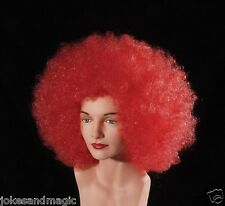 Red Jumbo Afro Wig Costume Unisex Deluxe Wigs Halloween Party dress up party
