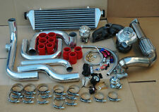 D15 D16 BOLT-ON TURBO KIT w/ .63 AR T3 T4 TURBOCHARGER FOR 92-00 HONDA CIVIC RED