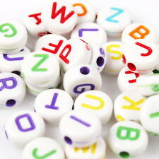2500pcs 112595 Hot White & Colorful Letters Mixed Acrylic Charms Spacer Beads