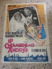 V9 MANIFESTO ORIGINALE 2F LO CHIAMEREMO ANDREA NINO MANFREDI MELATO DE SICA
