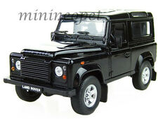 WELLY 22498 LAND ROVER DEFENDER 1/24 DIECAST MODEL CAR BLACK