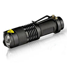7W 300 Lumens LED Mini Flashlight Torch Adjustable Focus Zoom CREE Q5 Light Lamp