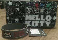 Collectable Hello Kitty Kiss wallet NWT & Gene Simmons rubber bracelet band
