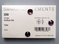 SWAROVSKI SEW-ON STONES ART 3200 12 mm Amethyst (204)