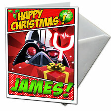 ANGRY BIRDS STAR WARS Personalised Christmas Card! FREE Shipping! CHRLAS16