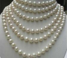 LONG 100 INCHES AA+ 8-9MM WHITE Akoya Cultured PEARL NECKLACE