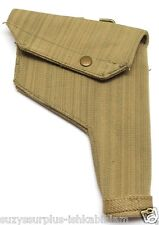1944 British tan canvas 38 webley holster w brass c belt hangers each E8499