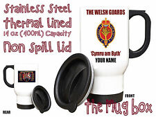 The Welsh Guards Personalised Thermal Travel Mug.(MT022)