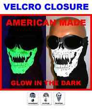 USA MADE ADJUSTABLE GLOW IN THE DARK SKULL FACE MASK MOTORCYCLE GHOST RIDER