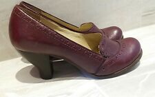 CLARKS HANDCRAFTED MAROON LEATHER WW2 VINTAGE 30s 40s STYLE SHOES UK 4.5 EU 37.5