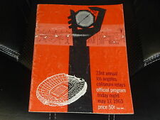 1963 LOS ANGELES COLISEUM RELAYS TRACK AND FIELD PROGRAM  VG