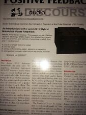 Lamm M1.2 Hybrid Monoblock Power Amplifiers 12 Page Marketing Mag 2007