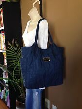 Marc by Marc Jacobs Quilted Nylon Blue Large Tote Bag Purse