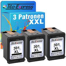 3 Druckerpatronen EcoSerie für HP 301 XL Black Deskjet