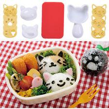 New Cute Kitty Cartoon Rice Ball Mold Set Bento Sushi Maker Mold Kitchen DIY