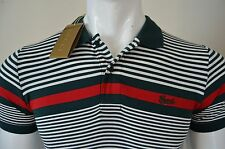 New Mens Gucci Polo Neck T-shirt Multicolor Slim Fit Cotton Blend Size L