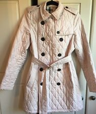 Gorgeous Burberry Long Pink Quilted Coat Nova Check Lining 10