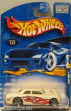 Hot Wheels White Flamed Shoe Box Collector No. 117 Blister Pack Carded Car
