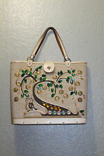 Vintage 1960 Enid Collins Bag  Canvas Bucke 12X11X4IN