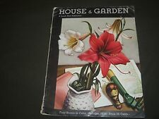 1934 OCTOBER THE HOUSE & GARDEN MAGAZINE - GREAT PHOTOS & ADS - ST 700