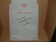 Calendrier publicitaire: Thé lipton 1957