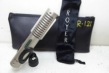 ROYER R-121 PROFESSIONAL STUDIO OR LIVE RIBBON MICROPHONE WITH POUCH & MIC CLIP!
