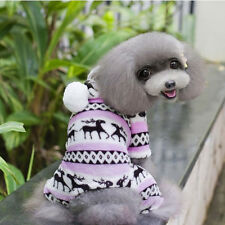 Pet Dog Warm Ches Puppy Jumpsuit Hoodie Coat Doggy Apparel #A
