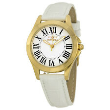 Invicta Angel White Dial Leather Strap Ladies Watch 15936