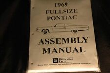 1969 PONTIAC FULL SIZE ASSEMBLY MANUAL 100'S OF PAGES OF PICTURES, PART NUMBERS