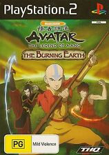 PLAYSTATION 2 AVATAR THE LEGEND OF AANG THE BURNING EARTH PS2 GAME