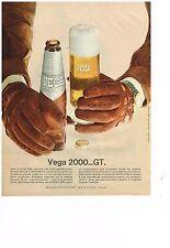 PUBLICITE  1969   VEGA 2000 GT  bière
