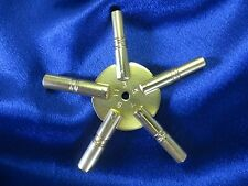 Universal Brass Clock Winding Key - Odd Sizes 5 Prong Star - Made in USA