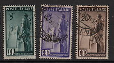 ITALY : 1949 European Recovery Plan SG 727-9 used