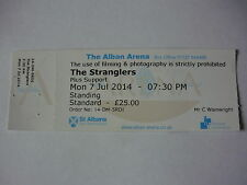 THE STRANGLERS - UNUSED JULY 2014 CONCERT TICKET