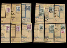 OPC Lot of 21 1940 Bohemia & Moravia Parcel Card partials with town Cancels