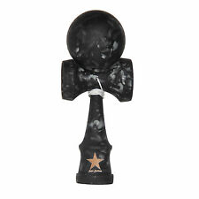 Black Full Marble Rubberized Super Kendama,Super Sticky, Japanese Toy, USA