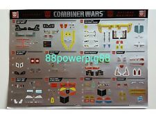 Transformers Combiner Wars Defensor & Optimus Maximus Sticker US Seller