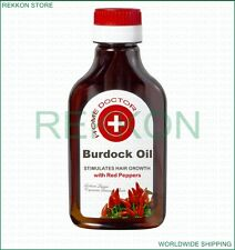 Organic Burdock Oil with Red Peppers Growth for Hair Scalp Against Hair Lost 100