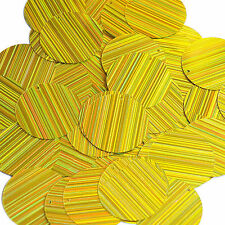 Yellow Sequin Round 30mm City Lights Reflective Couture Paillettes