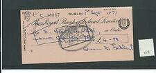 wbc. - CHEQUE - CH114 - USED -1970s - ROYAL BANK of IRELAND, TERENURE, DUBLIN