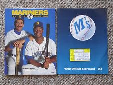 Griffey Jr. & Sr. FIRST GAME TOGETHER. 1990  Program, ticket, etc.  HISTORY