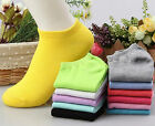 Hot Style Candy Color Women Short Ankle Boat Low Cut Sport Socks Crew Casual