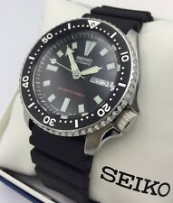New Seiko SKX173 Dive Men's Urethane Strap Black Dial Automatic Watch