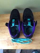 Supra Black Teal Purple Action skateboarding Shoes size 11