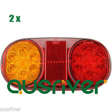 New 12V 2X Truck Trailer Boat Tail Lamp Kit Waterproof LED Stop Indicator Light