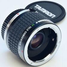 OLYMPUS OM Tamron-F SP 2X Converter MC7 + Caps - F Series - ===Mint===