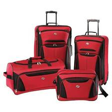 Carry On Luggage With Wheels Sets Kids Suitcase Lightweight Teens Red Travel New