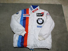 VINTAGE BMW Racing Jacket Adult Large White Racer Motorcycle Coat Cars M3 M5