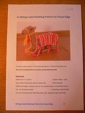 """SITTING CAMEL KNITTING PATTERN FOR 8"""" (20 CMS) NATIVITY CAMEL -WITH REIN WOOL"""