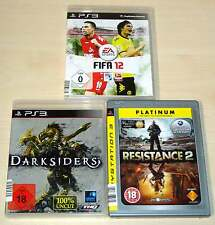 3 PLAYSTATION 3 giochi ps3 raccolta FIFA 12 DARKSIDERS resistance 2 Shooter
